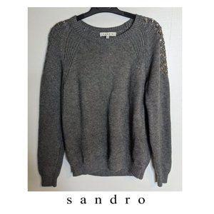Sandro | Embellished crew neck sweater